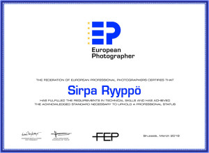 The Federation of European Professional Photographers Certificate